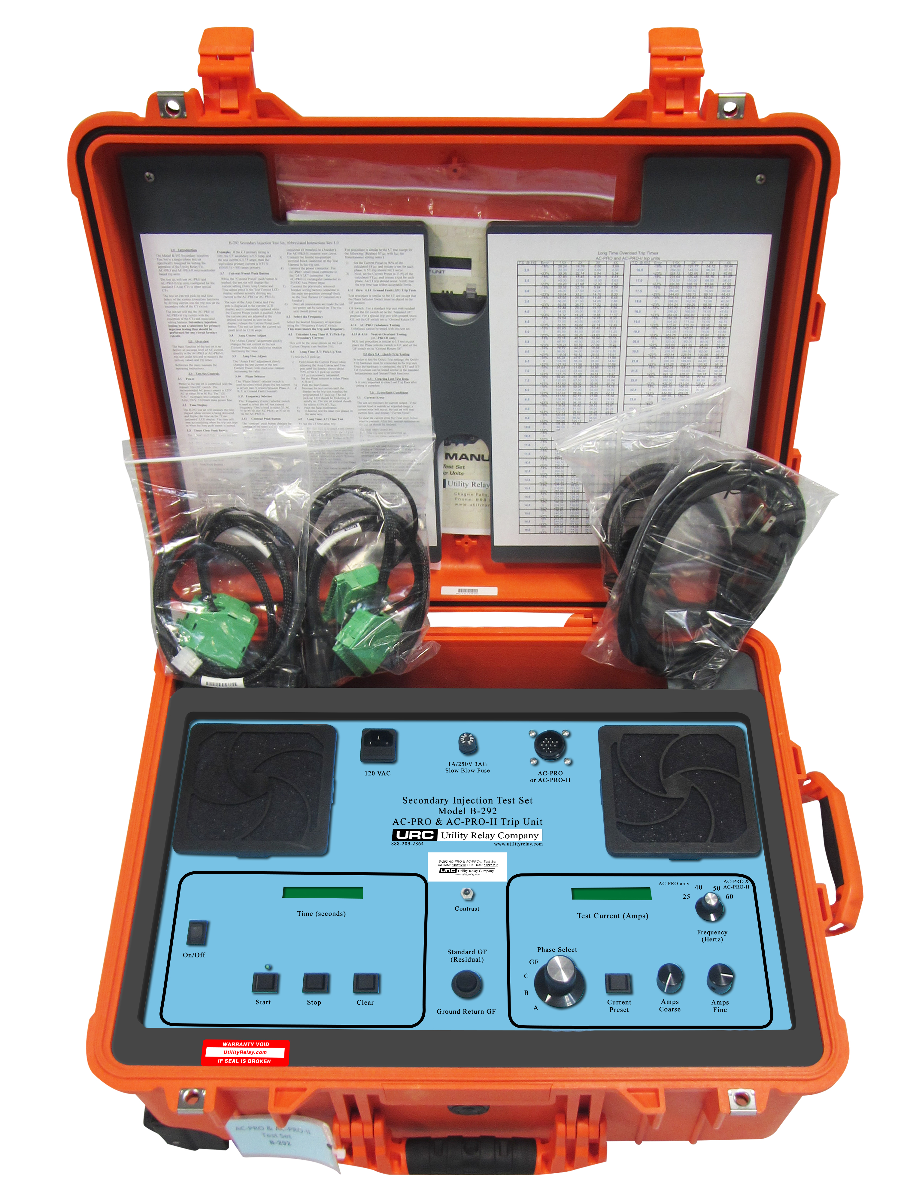 Test Sets At Utility Relay Company Electrical Testing Kit Ac Pro On A Ge Ak 25 Breaker